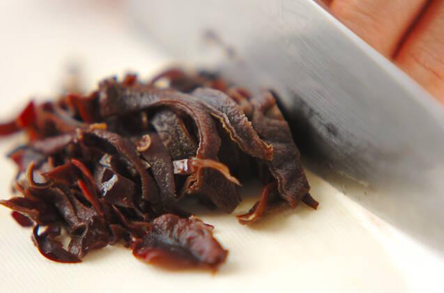 チンゲンサイのトロミスープの作り方の手順2