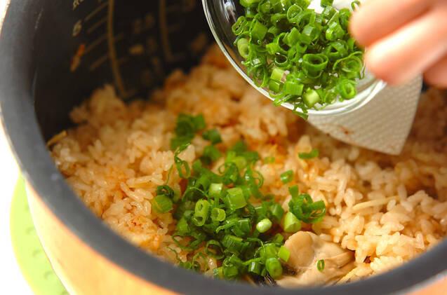 カキの炊き込みご飯の作り方の手順6