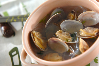 アサリの春雨スープ