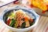 青菜のゴマ炒めの作り方の手順