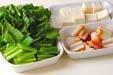 青菜のゴマ炒めの下準備1
