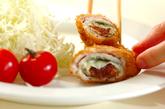 豚肉の梅おかかチーズ巻きフライの作り方3