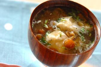くずし豆腐のナメコおろし汁