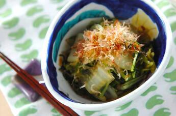 水菜と白菜のおひたし