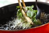 エビと春菊のかき揚げの作り方2