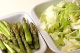 豚アスパラソース炒めの作り方2
