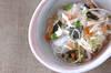 春雨と大和芋の和え物の作り方の手順