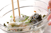 春雨と大和芋の和え物の作り方1