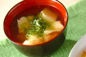 卵豆腐のすまし汁