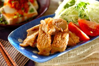豚肉の甘辛ショウガ焼き