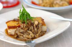 豆腐ステーキ・キノコソース