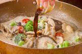 キノコのフライパンチーズ煮の作り方4