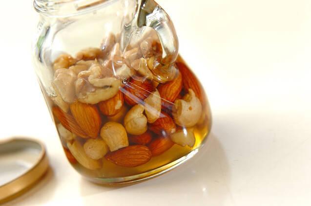 ナッツのハチミツ漬けの作り方の手順2