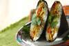 サバカレーと香菜のおにぎらずの作り方の手順