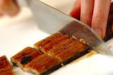 ウナギと豆腐の甘辛炒め煮の下準備1