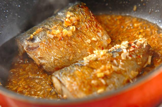 サバの香味照り焼きの作り方の手順5