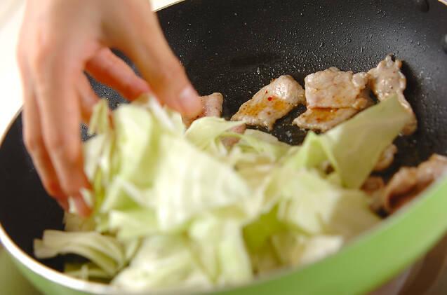 キャベツと豆腐の炒め物の作り方の手順5
