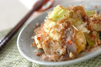 キャベツと豆腐の炒め物