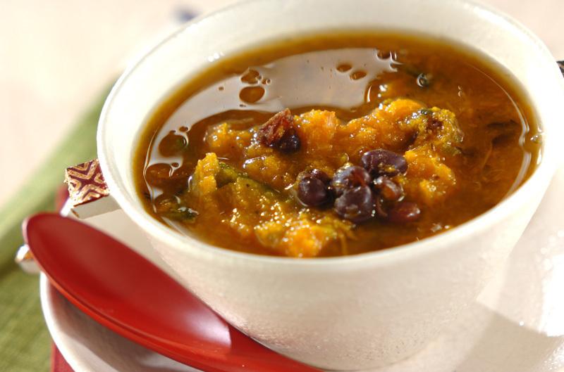 カボチャと小豆の薬膳スープの作り方