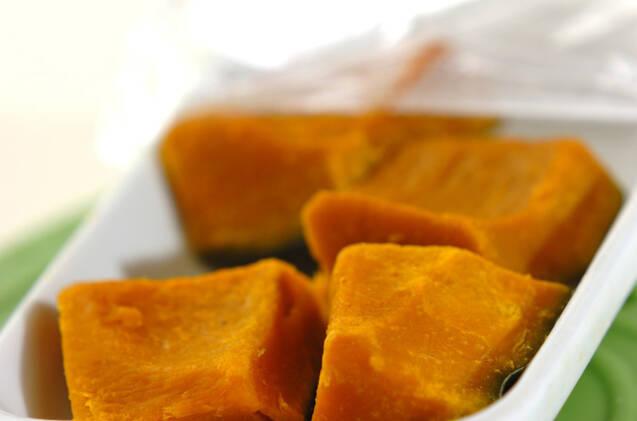 カボチャと小豆の薬膳スープの作り方の手順1