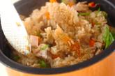 干しシイタケの炊き込みご飯の作り方2