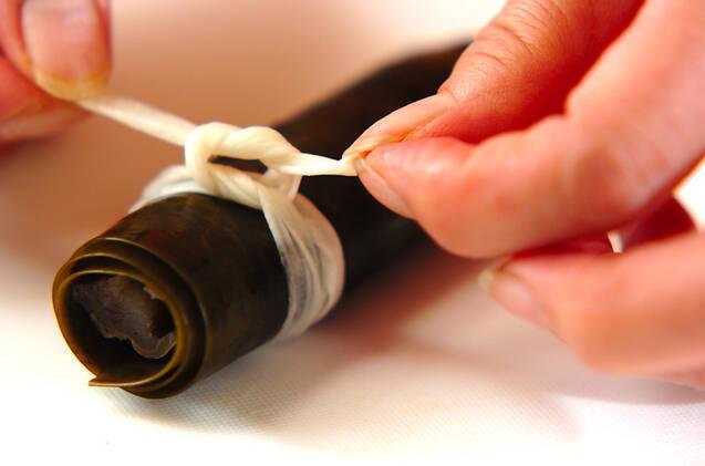 圧力鍋で時短!ニシンの昆布巻きの作り方の手順4