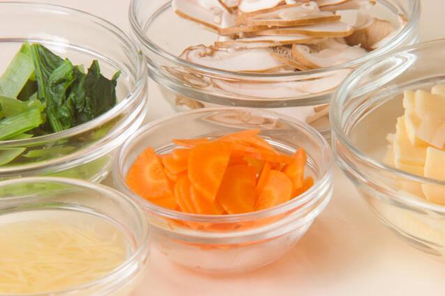 鶏ひき肉あんかけ丼の作り方の手順2