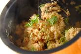 カキの炊き込みご飯の作り方3