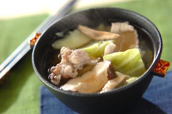 豚とシイタケのスープ