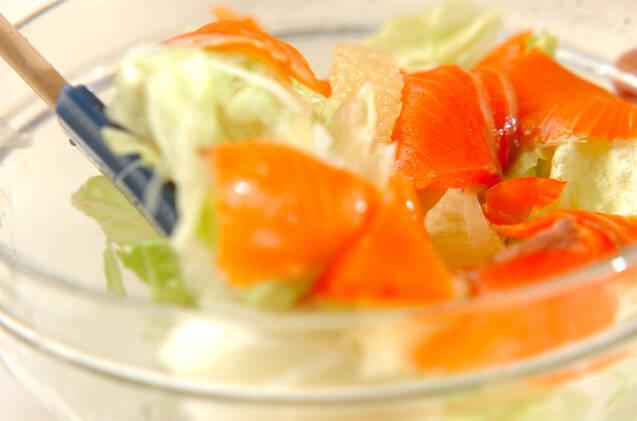 サーモンと玉ネギのサッパリサラダの作り方の手順6