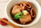 イカと焼き豆腐の甘煮