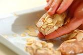鶏つくねのアーモンド揚げの作り方2