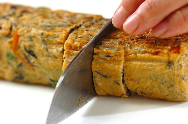 ヒジキ入り卵焼きの作り方の手順8