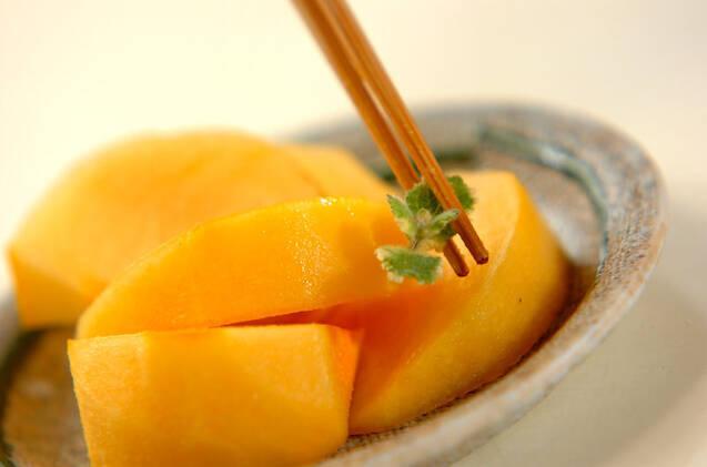 柿のキュラソーがけの作り方の手順2