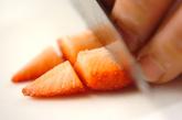 イチゴとクリームチーズのオムレツの作り方1
