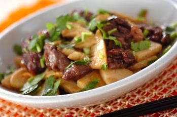 牛肉とタケノコのエスニック炒め
