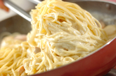 サーモンと栗のクリームパスタの作り方4