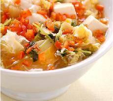 干し貝柱入り中華風卵スープ