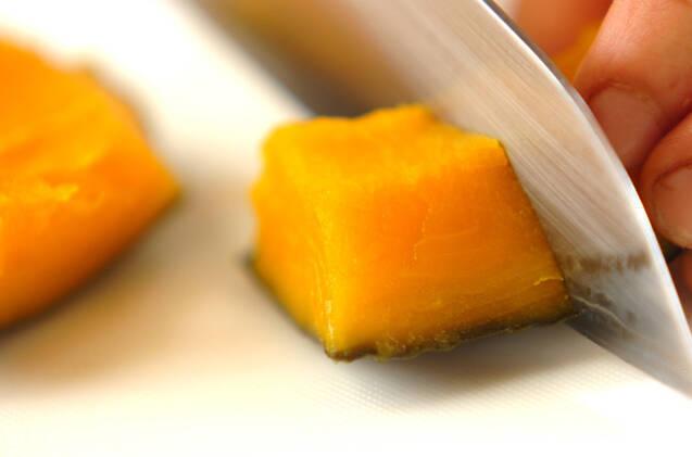 カボチャのココナッツ汁粉の作り方の手順1