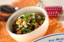 水煮大豆のサラダ