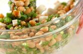 水煮大豆のサラダの作り方1