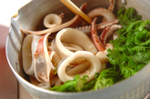 イカと菜の花の煮物の作り方1