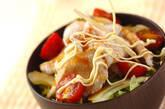 豚サラダ丼の作り方2
