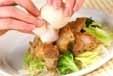 鶏肉ソテー温泉卵のっけの作り方3