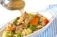野菜炒め黒酢あんかけの作り方4