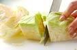 野菜炒め黒酢あんかけの下準備1