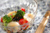 ホタテと海藻のサラダ