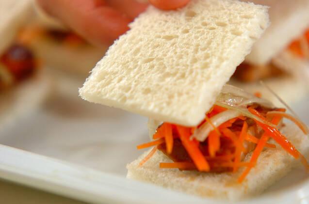 角煮サンドの作り方の手順3