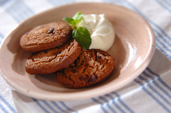 マスカルポーネ添えクッキー