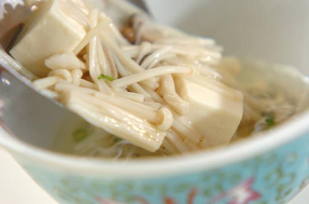 キノコのスープの作り方の手順5